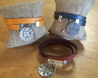 Leather Wrap Bracelet with Hand Stamped Mandala Charm ~ Thursday, September 6, 2018 at 6:30 PM