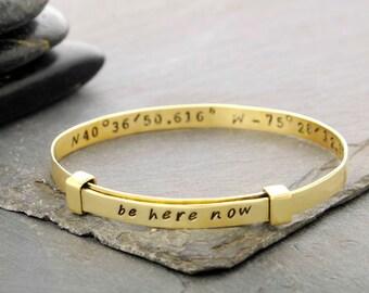 Personalized Coordinate Bracelet