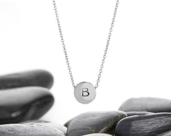 Sliding Initial Necklace in Recycled Sterling Silver