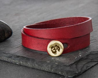 Leather Bracelet, Gift For Her, Leather Jewelry, Mens Bracelet, Gift For Him, Men Leather Bracelet, Boho Bracelet, Husband Gift, b254dbl