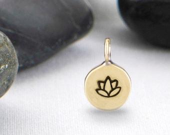 Third Inch Lotus Charm