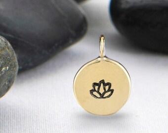 Half Inch Lotus Flower Charm