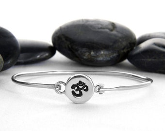 OM Hinge Cuff in Sterling Silver