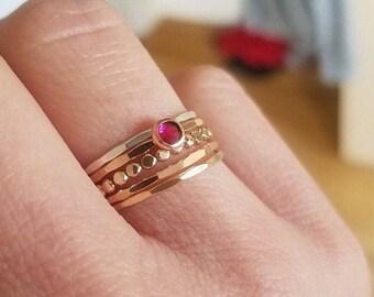 Swarovski Crystal Stacking Ring Set