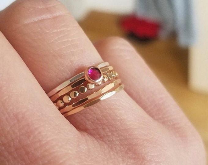 Featured listing image: Swarovski Crystal Stacking Ring Set