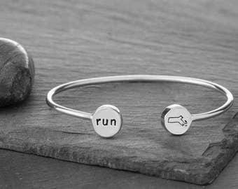 Run Boston cuff bracelet