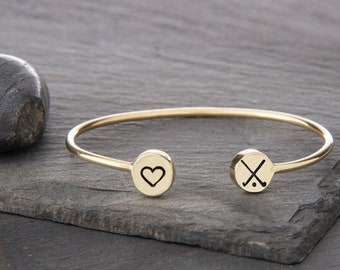 I love Field Hockey Cuff bracelet