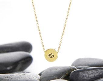 Lotus Flower, Lotus Jewelry, Lotus Necklace, Lotus Flower Necklace, Yoga Jewelry, Yoga Necklace, Lotus Flower Charm, Yoga Gift