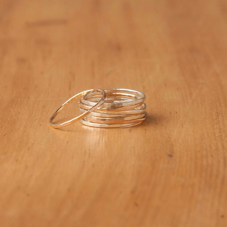 Gold Ring Stackable Ring Thin Ring Sterling Silver Ring image 0