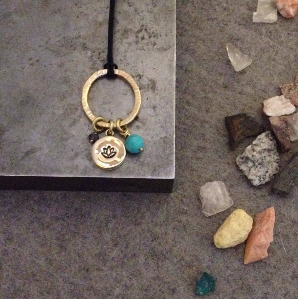 Lotus Necklace Lotus Flower Necklace Lotus Flower Jewelry Lotus