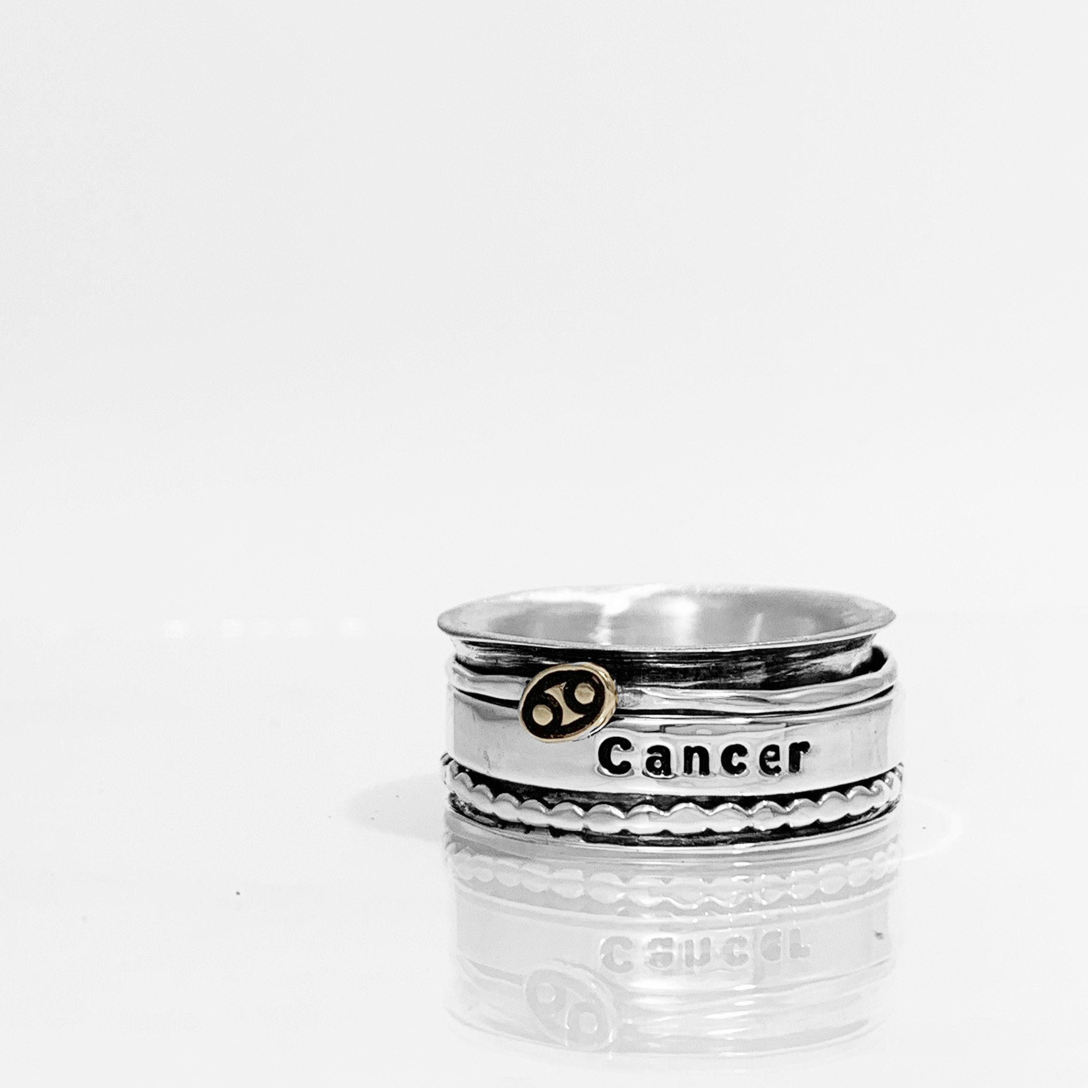 Cancer Spinner Ring