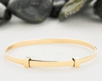 Adjustable Bracelet, Gold Bracelet, Adjustable, Bracelet, Gold, Stackable Bracelet, Gift For Her, Bangle Bracelet, Adjustable Cuff