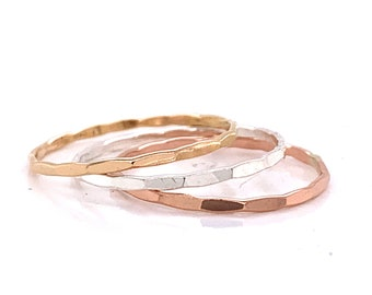 Gold Ring, Stackable Ring, Thin Ring, Sterling Silver Ring, Dainty Ring, Stacking Rings, Rings, Silver Ring, Thin Gold Ring, Stack Ring