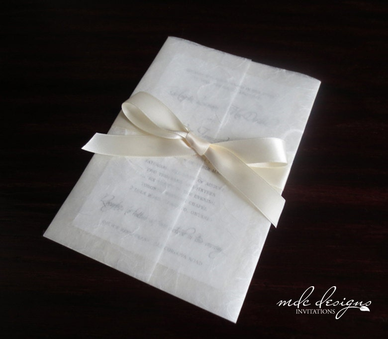 Wedding Invitations Eco Friendly: Classic Ivory Eco-Friendly Mulberry Wedding Invitation