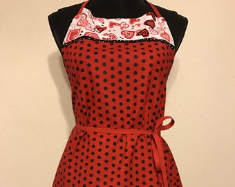 "Women's Full Apron ""Hearts...Hearts... and more Hearts"""