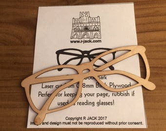 Bookmark made from 0.8mm Birch ply