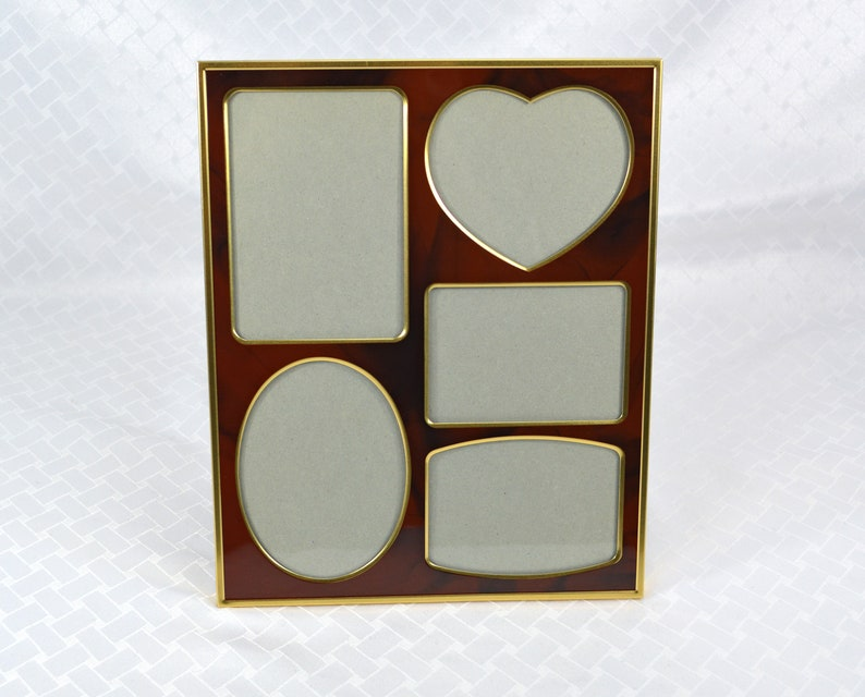 """VINTAGE 10/""""H RECTANGULAR WOOD FRAME OVAL OPENING for 7 1//2/""""x 5 5//8/"""" PLATE PRINT"""