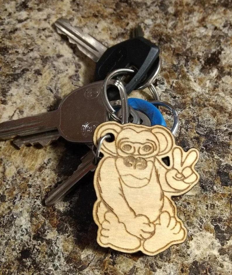 Monkey Key chain Luggage Accessory Luggage Tag Laser image 0