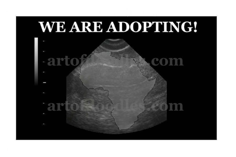 We Are Adopting Adoption Announcement Baby Announcement image 0