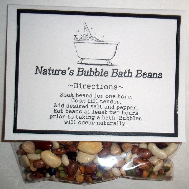 Nature's Bubble Bath Beans Gag Gift Redneck Favors image 0