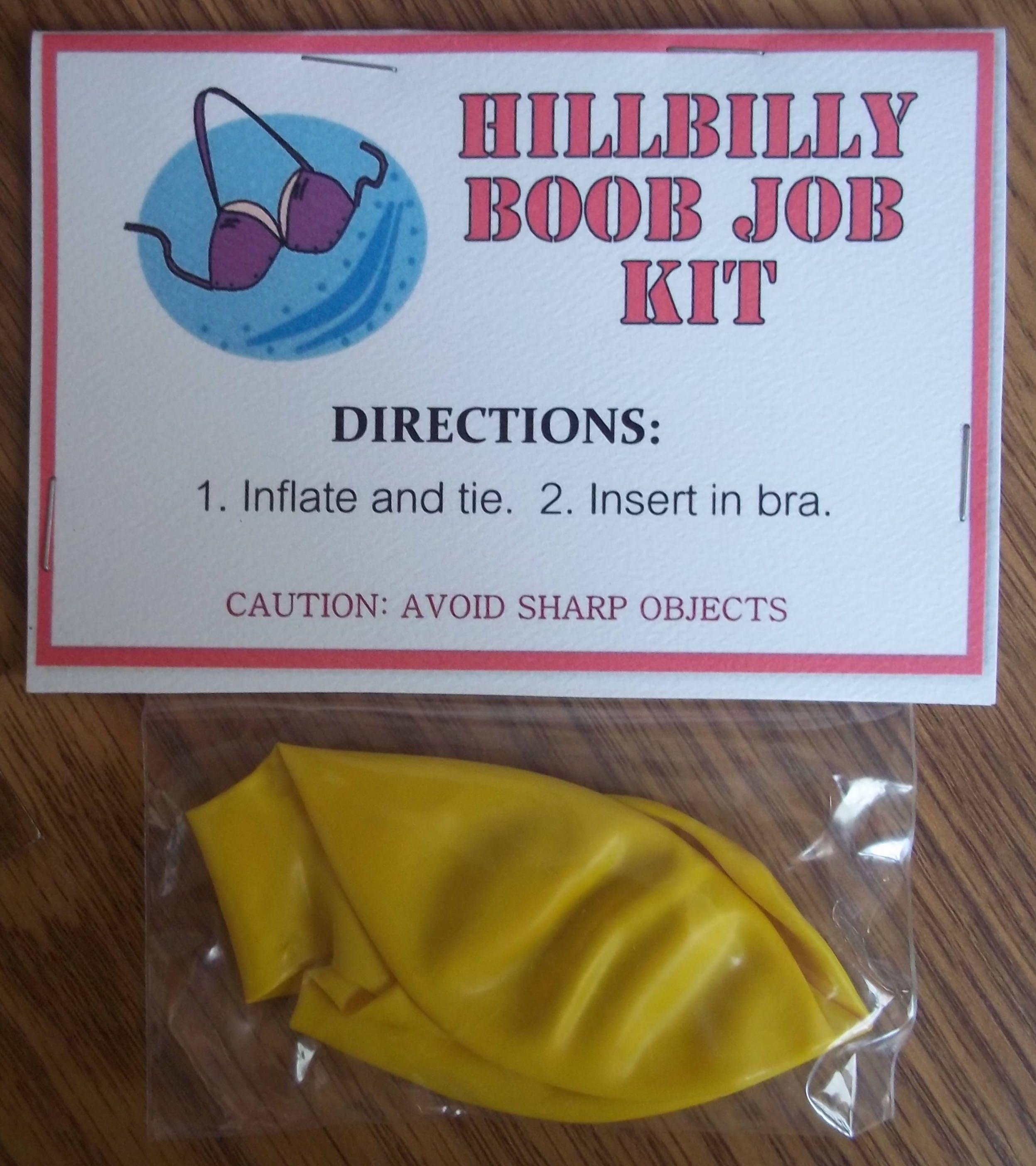 Schnell & einfach Boob Job Kit Hillbilly Boob Job Gag | Etsy