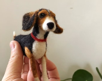 Custom Needlefelted Dog Portrait // Pet Portrait
