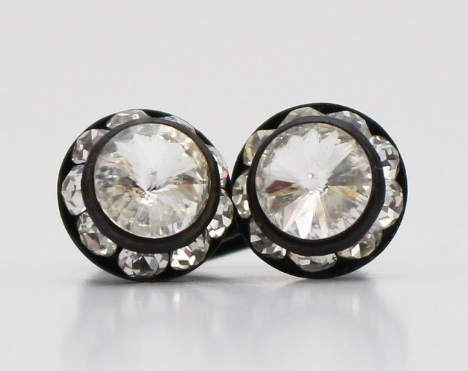 Vintage 1940s Austrian Crystal Screw Back Earrings