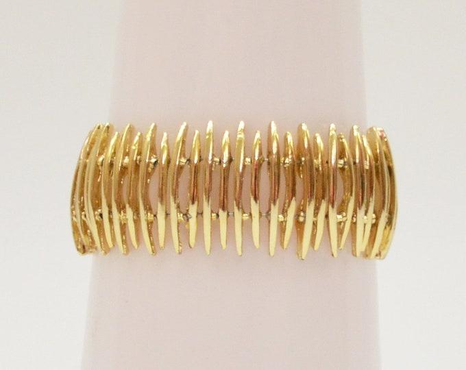 Vintage 1970s Gold Modernist Bracelet