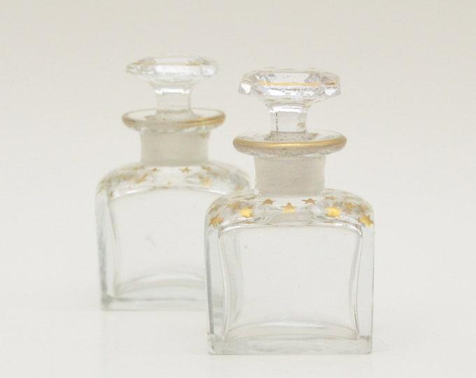 Vintage 1920s Glass Vanity Jars