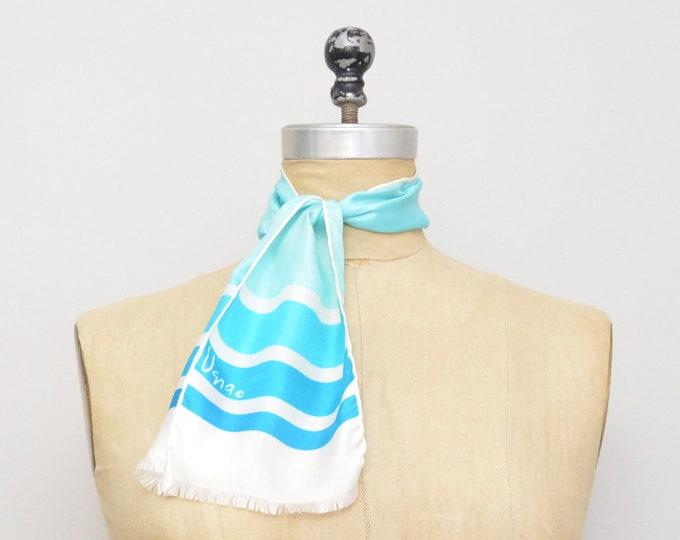 Vintage Vera Neumann Silk Scarf - Light Blue Color Block Print