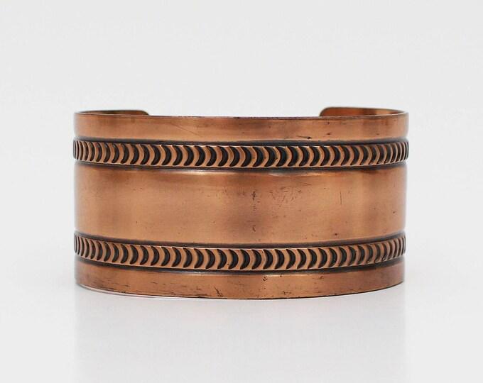 60s Copper Cuff - Vintage 1960s Bell Trading Company Copper Bracelet