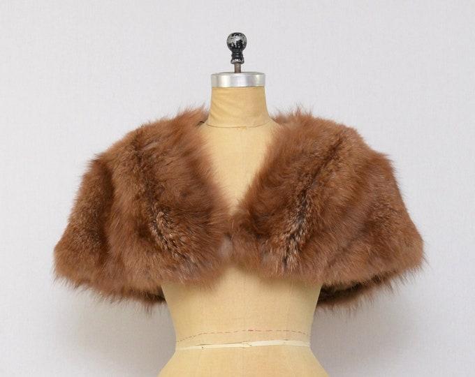 Vintage 1950s Brown Fur Stole