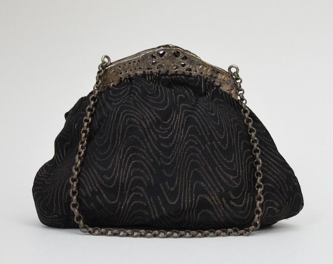 Vintage 1920s Black Evening Bag