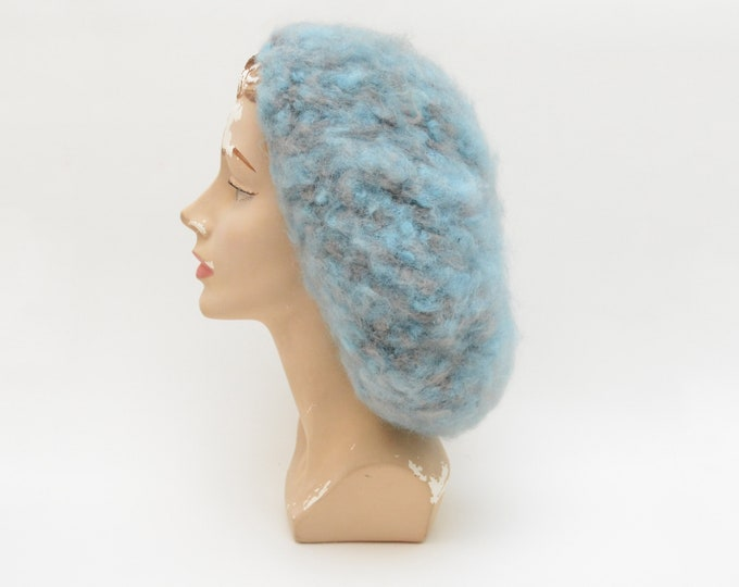 Vintage Pale Blue Slouchy Knit Hat
