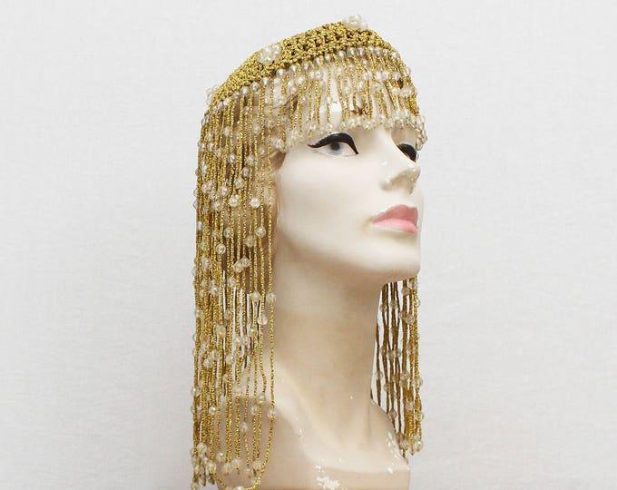 Vintage 1920s Egyptian Revival Gold Flapper Headpiece