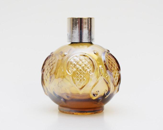 Vintage Avon 1960s Amber Glass Perfume Bottle