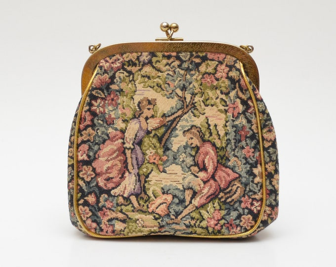 Vintage Edwardian Vista Tapestry Bag