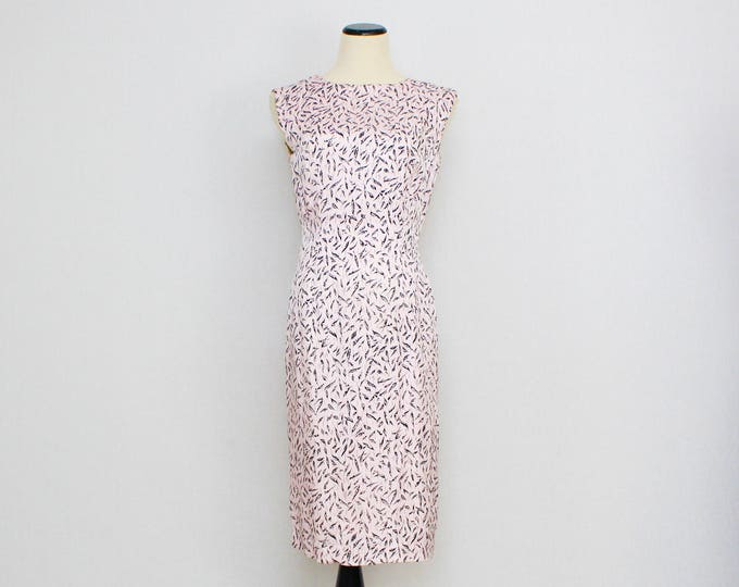 Vintage 1960s Pink Hourglass Wiggle Dress - Size Small