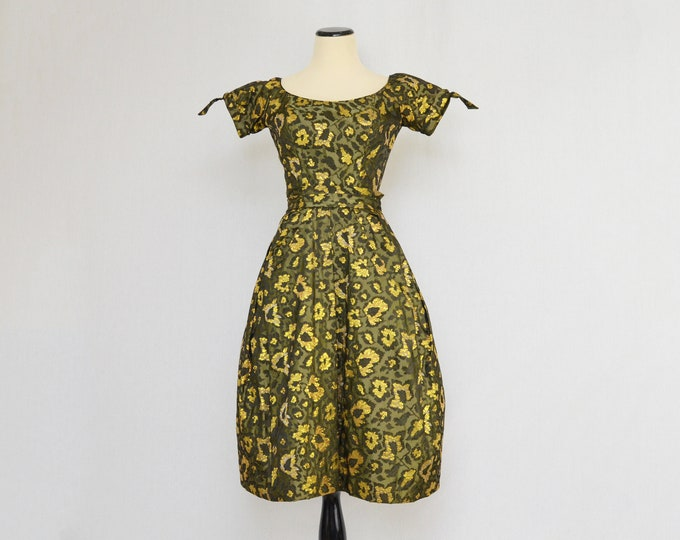 Vintage 50s Couture Cocktail Dress by Ceil Chapman - Size Extra Small