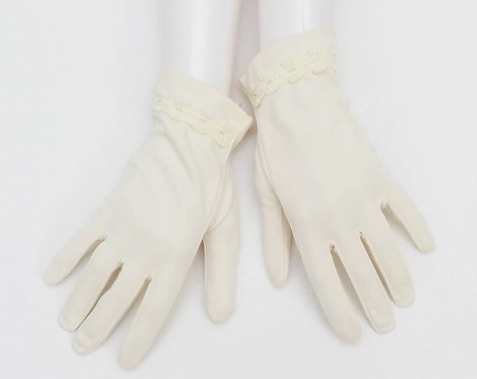 Vintage 1950s Short Wedding Gloves