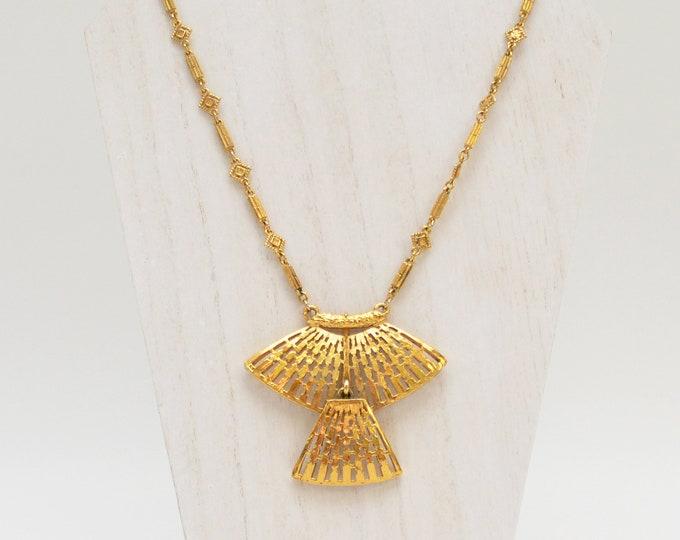 Vintage 1970s Gold Statement Necklace