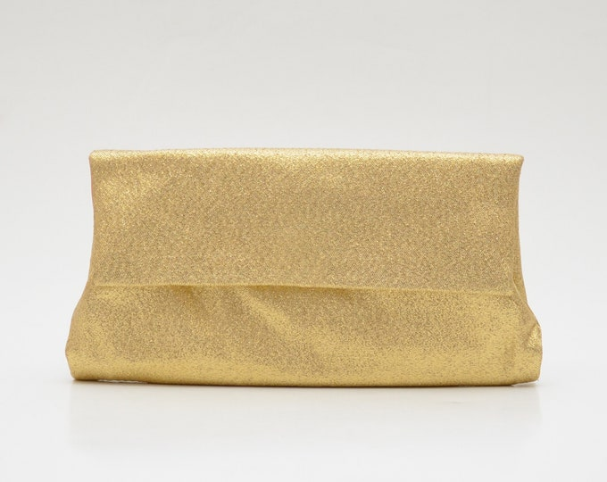 RESERVED - Vintage Gold Lamé Pocketbook Clutch by Lady Buxton