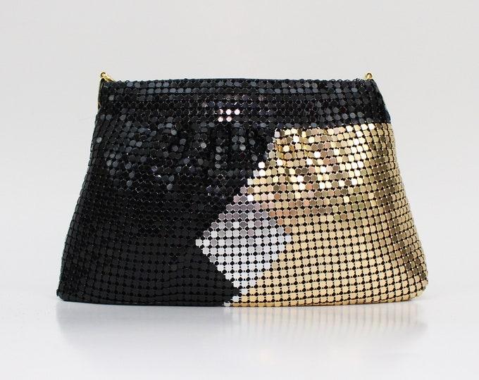 Vintage 1980s Metallic Mesh Handbag