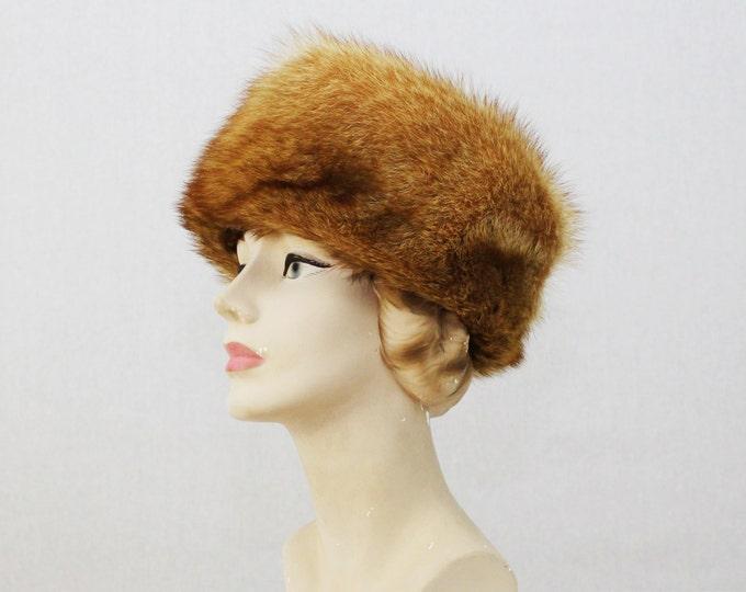 Fox Fur Hat - 70s Orange Fur Cossack Hat - Vintage 1970s Winter Hat