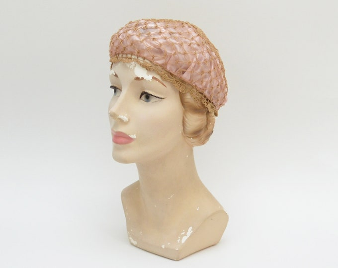 Antique Silk and Crochet Boudoir Bonnet