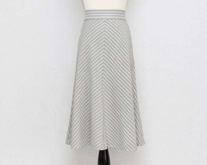 Vintage 1960s High Waist Houndstooth Skirt - Size Extra Small
