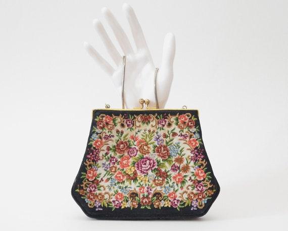 Vintage Floral Tapastry Bag