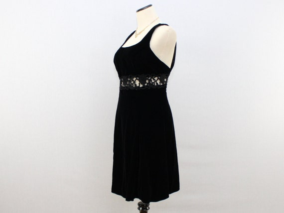 Dress Little Velvet McClintock Cocktail Dress Black Dress Sax Black 1980s Black Jessica Out Cut Velvet Vintage Dress Gunne gnqSxfTH