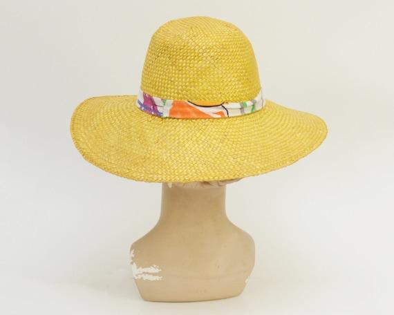 80s Wide Brim Straw Hat - Vintage 1980s Beach Hat