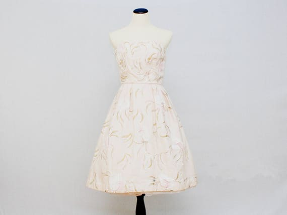 50s Blush Cupcake Dress - Vintage 1950s Frank Star